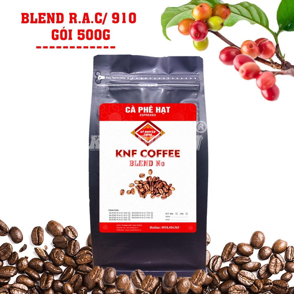 500G - CÀ PHÊ HẠT BLEND R.A.C/ 910 - KNF COFFEE