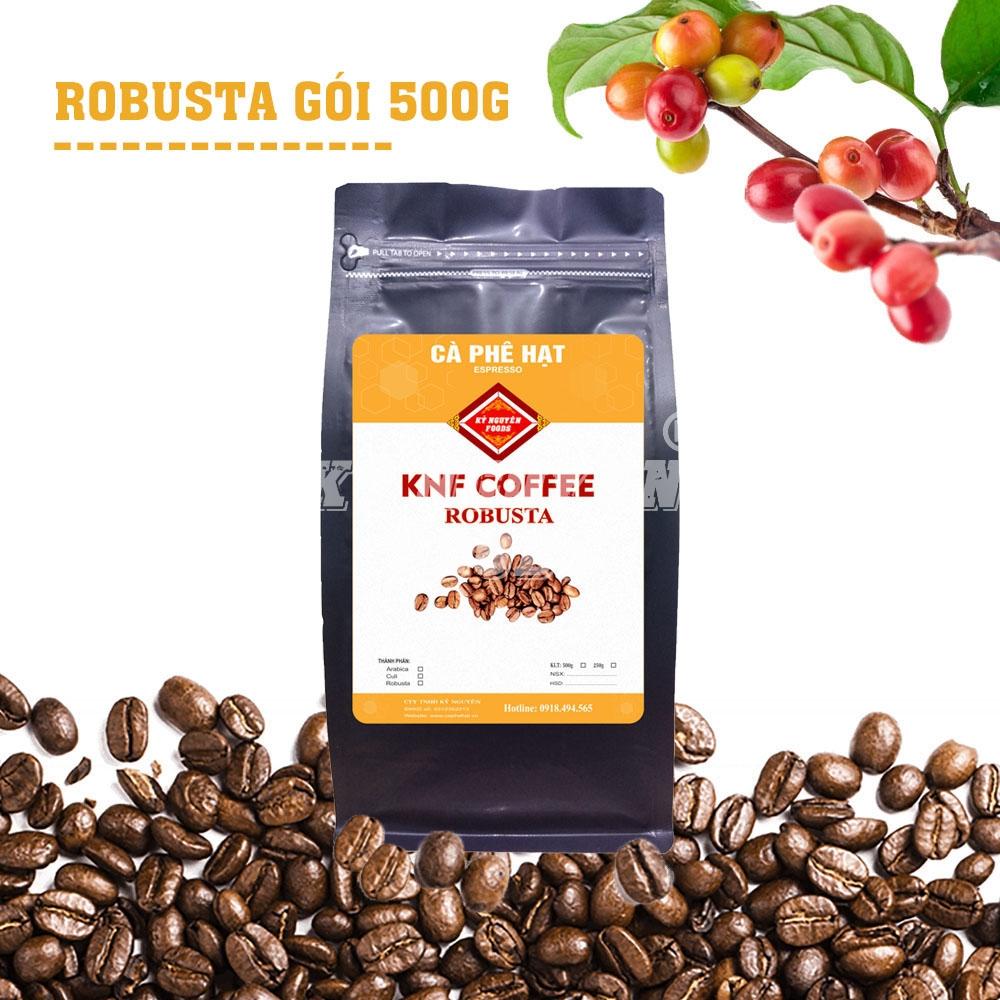 500G - CÀ PHÊ HẠT ROBUSTA THƯỢNG HẠNG - KNF COFFEE