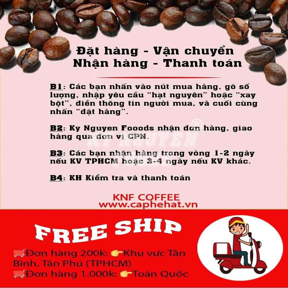 250G - CÀ PHÊ HẠT ARABICA THƯỢNG HẠNG - KNF COFFEE